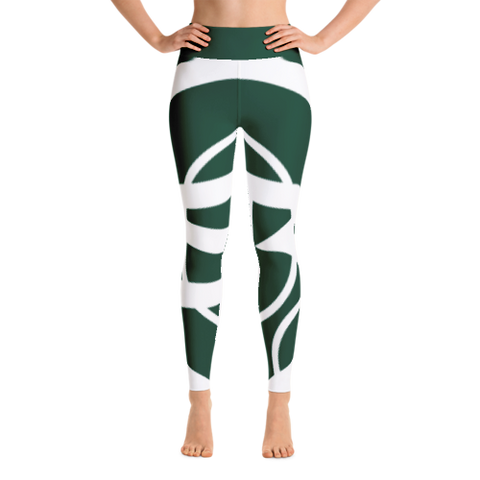 Solar Republic Green Yoga Pants - Front