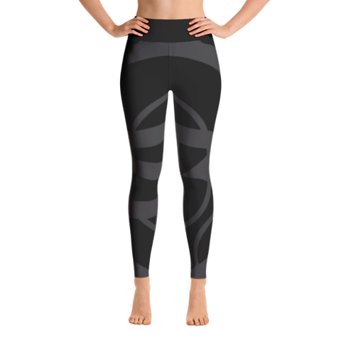 Solar Republic Grey Yoga Pants - Front