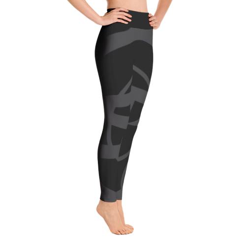 Solar Republic Grey Yoga Pants - Right