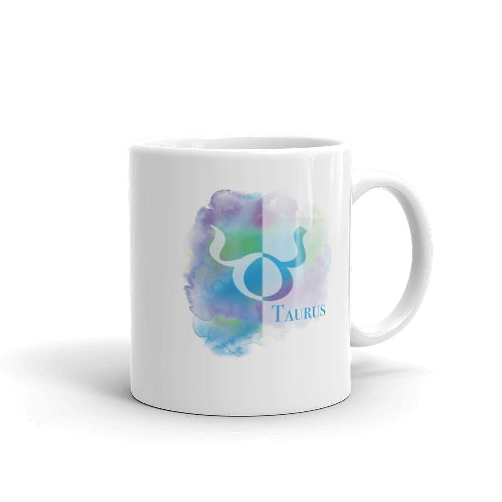 Taurus Sign Colorful Coffee Mug 11oz - Zodiac Coffee Mug - Taurus Gifts - April, May Birthday
