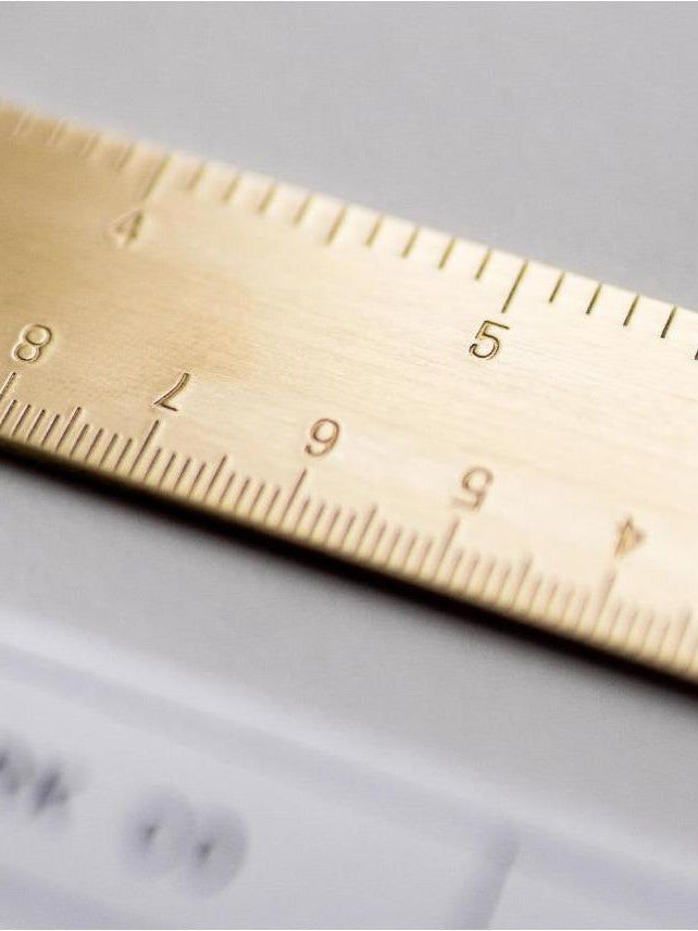 Straight Brass Ruler - Fieldwork Co Waxed Canvas and Leather Hand Made Goods