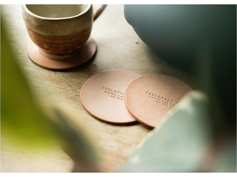 Coasters - Fieldwork Co Waxed Canvas and Leather Hand Made Goods
