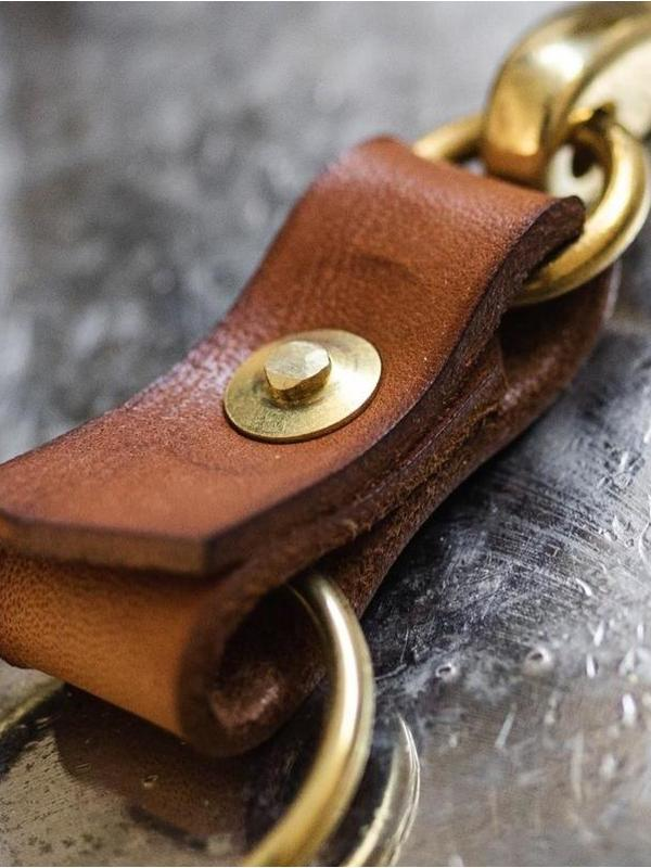 Japanese Keychain - Fieldwork Co Waxed Canvas and Leather Hand Made Goods