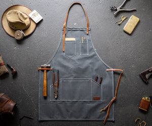 The Carpenters Apron - Fieldwork Co Waxed Canvas and Leather Hand Made Goods
