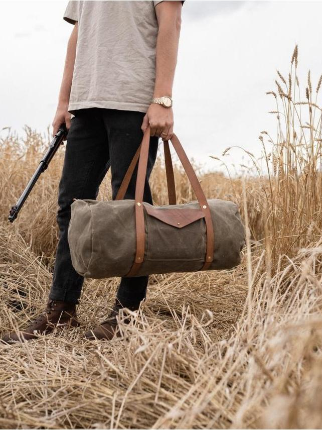 Weekender Duffle - Fieldwork Co Waxed Canvas and Leather Hand Made Goods