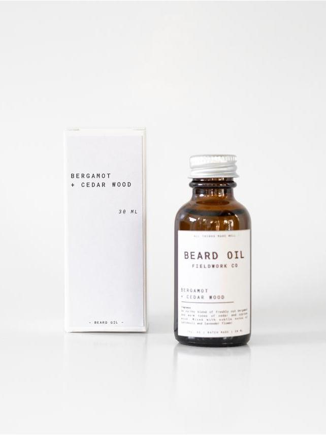 Bergamot + Cedar Wood Beard Oil - Fieldwork Co Waxed Canvas and Leather Hand Made Goods