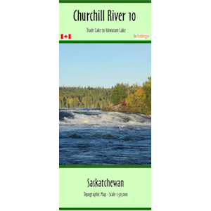 Churchill River 10 Canoe Map