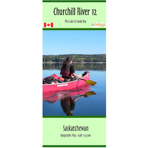 Churchill River 12 Canoe and Kayak Map