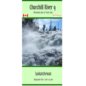 Churchill River 09 Canoe Map