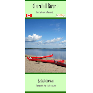 Churchill River 01 Canoe Map