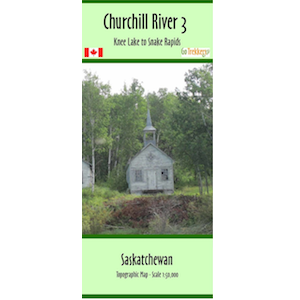 Churchill River 03 Canoe Map