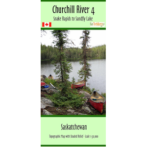 Churchill River 04 Canoe Map