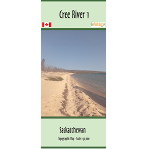 The Cree River 1, 2, 3, 4, and 5 Canoe and Kayak Map
