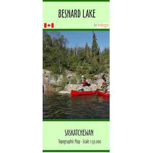 Besnard Lake River Map