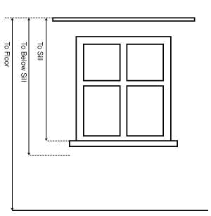 Measure curtain length