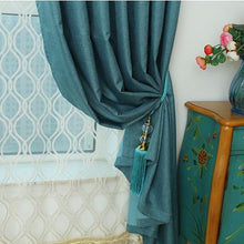 Blue blackout curtains and drapes