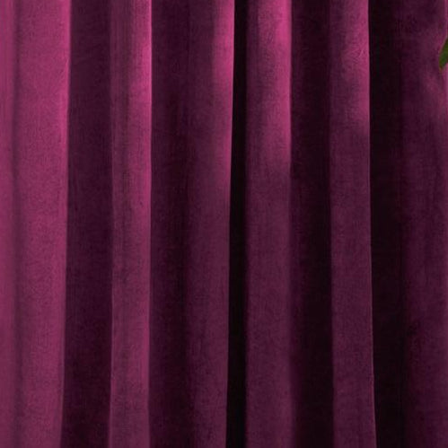 Louisiana Dark Pink Velvet Curtains