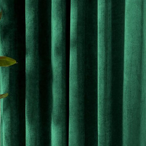 Louisiana Green velvet curtains