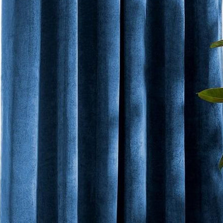 Louisiana Dark Blue Velvet Curtains
