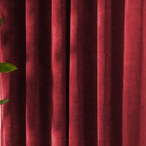 Louisiana Red Wine Velvet Curtains