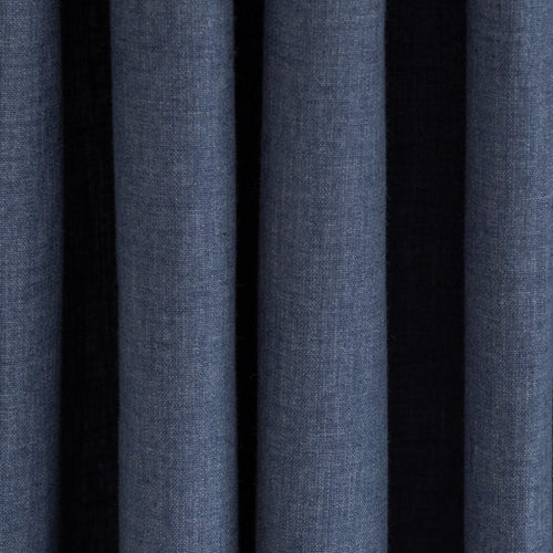 Country Cotton Navy Blue Curtains