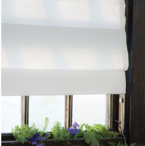 Estella White Sun filter Roman Blind | Custom Made Roman Blind