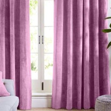 Light Pink velvet curtains