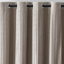 Moria Stripes Velvet Grey Curtains - Custom made velvet drapes