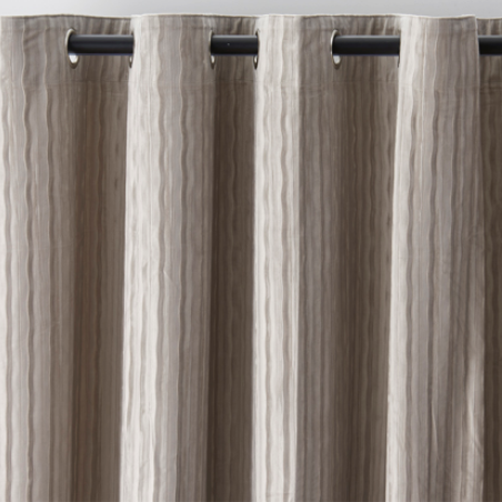 Moria Stripes Velvet Grey Curtains