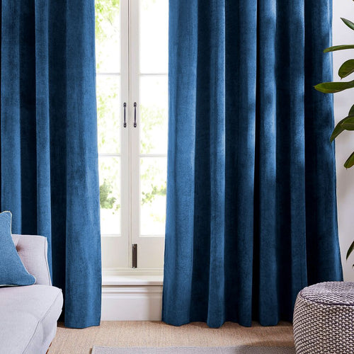 Dark Blue Velvet Curtains