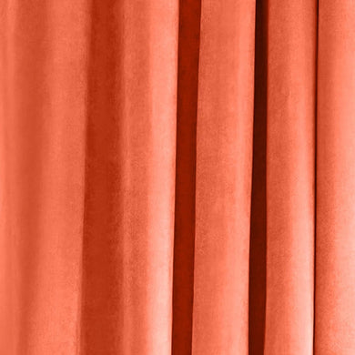 Nordic Coral Velvet Curtains
