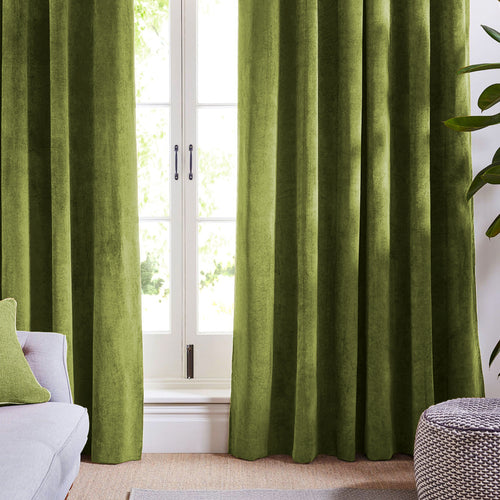 Light Green Velvet Curtains-Custom made velvet draperies