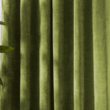 Louisiana Light Green Velvet Curtains