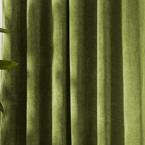 Light Green Velvet Curtains