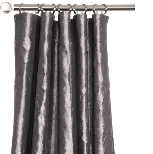 Olivia Charcoal Grey Curtains With Shiny Texture