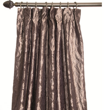Olivia Brown Curtains with shiny texture