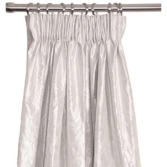 Olivia White Curtains with shiny texture