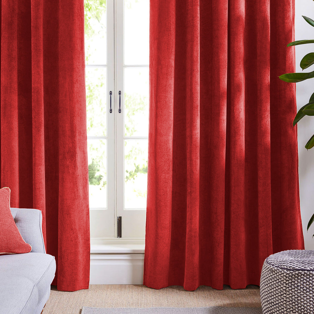 Ruby Red Velvet Curtains