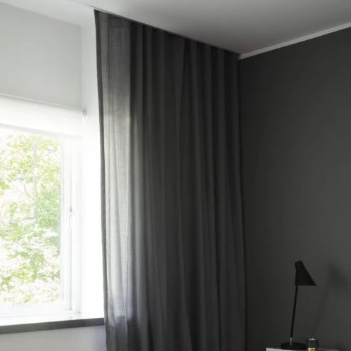 Grey Vian Cotton Curtains