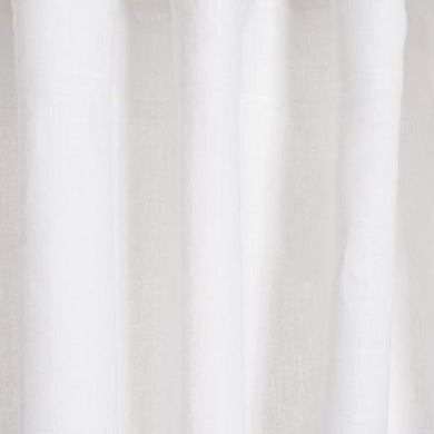 White Linna Pure Linen Curtains