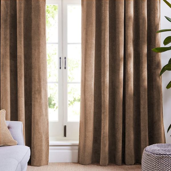 Coffee Velvet Curtains