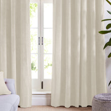 Cream Velvet Curtains-Koikaa