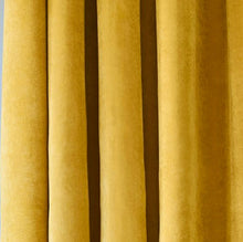 Custom Made Gold Velvet Curtains