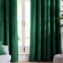 Green Velvet Curtains-Koikaa