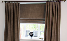 Letus Brown Roman Blind - Custom made thermal roman blind