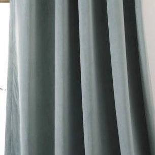 Ljuva Dull Green Velvet Curtains
