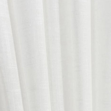 Paris White Voile Sheer Curtains