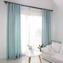 chalk blue curtains