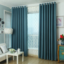 blue thermal blackout curtains and drapes