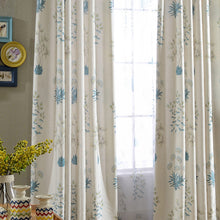blue and white curtains livingroom